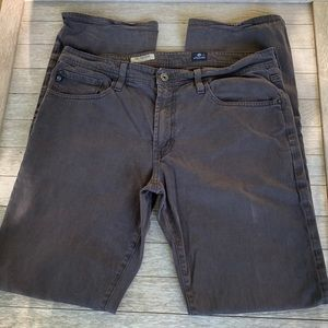 AG Protege Straight Leg Jeans. 34. Dark Grey